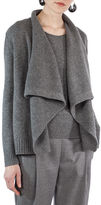 Akris Punto Draped Wool-Cashmere Cardigan Sweater