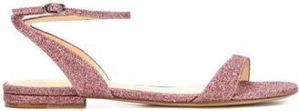 Alexandre Birman Glitter Buckled Sandals