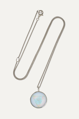 Noor Fares Ajna 14-karat Gray Gold Chalcedony And Faux Opal Necklace