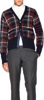 Thom Browne Tartan Plaid Wool Cardigan