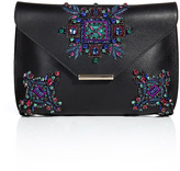 Embellished Leather Newton Envelope Clutch