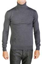 Christian Dior Virgin Wool Turtleneck Sweater Grey.