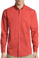 ST. JOHN'S BAY St. John's Bay Long-Sleeve Legacy Poplin Sport Shirt