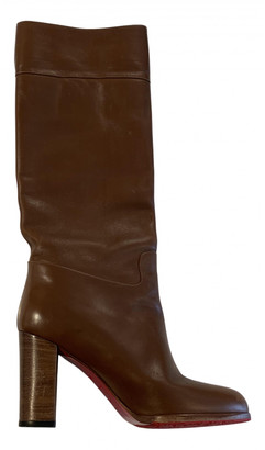 Christian Louboutin Cate Camel Leather Boots