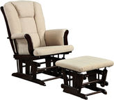 Asstd National Brand Graves Chenille Glider with Ottoman