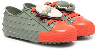 Mini Melissa Dino two-tone sneakers