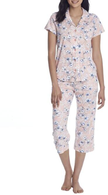 Karen Neuburger Plus Size China Blue Henley Nightshirt