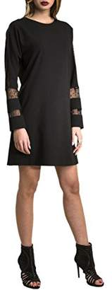 Relish Women's Edyla Mini Dress, black, 6 (Manufacturer Size: 40)