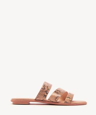 Sole Society Women's Simonaa Asymmetrical Flat Sandals Beige Multi Size 5 PU From