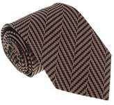 Missoni U4528 Mauve/black Chevron 100% Silk Tie.
