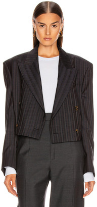Acne Studios Pinstripe Suit Jacket in Navy Blue | FWRD