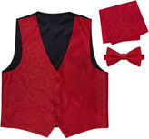 Asstd National Brand Paisley Vest, Bow Tie and Pocket Square Set