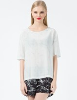 A Question Of White Marble Boxy T-Shirt