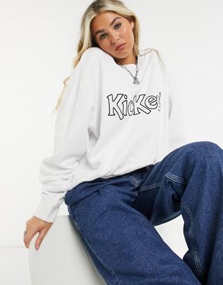Kickers oversized sweatshirt with front logo