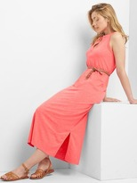 Gap Sleeveless split-neck maxi dress