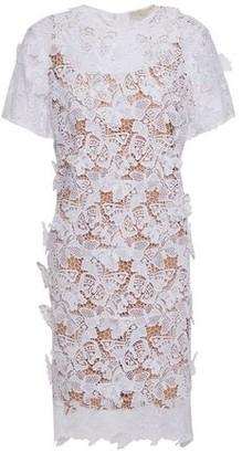 MICHAEL Michael Kors Embellished Appliqued Guipure Lace Dress