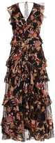 Zimmermann Wavelength Frilled Floral Silk Maxi Dress