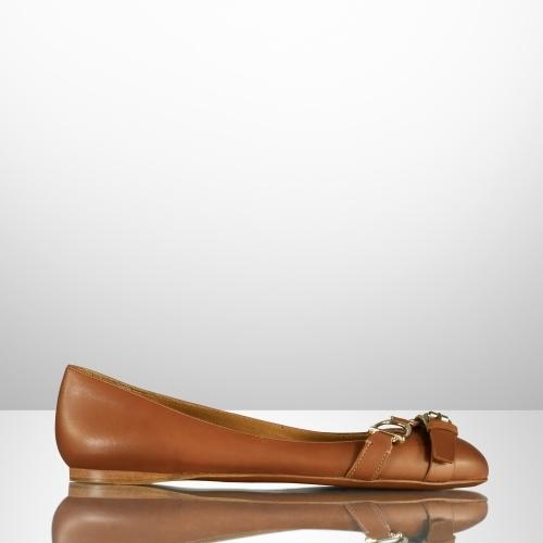 Ralph Lauren Umina Calf Ballet Flat
