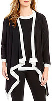 IC Collection Cascade Open Front Contrast Trim jacket
