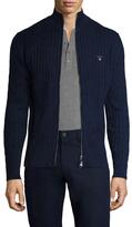 Gant Stretch Cotton Cableknit Jacket