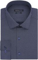 Van Heusen Indigo Blue Print Dress Shirt - Slim Fit