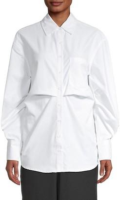 Walter Baker Pleated Long-Sleeve Shirt