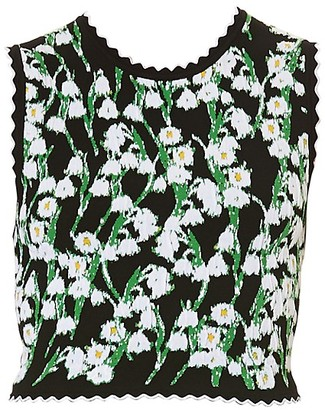 Carolina Herrera Daisy Jacquard Shell Top
