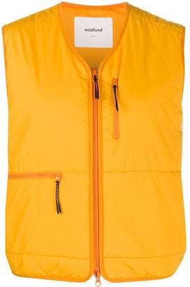 Soulland Bell zip-front vest