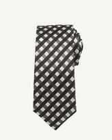 Le Château Silk Check Print Skinny Tie