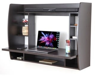 Copper Grove Cainari Wall-mounted Laptop Office Desk with Shelves