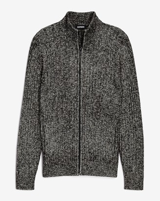 Express Marled Full Zip Sweater
