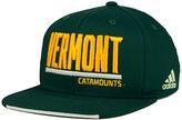 adidas Vermont Catamounts Travel Flat Brim Snapback Cap