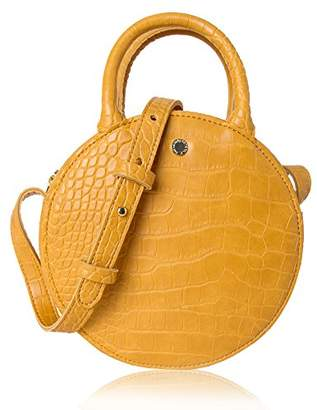 The Lovely Tote Co. Women's Fashion Crocodile Circle Crossbody Bag (