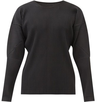 Homme Plissé Issey Miyake Technical-pleated Long-sleeved T-shirt - Black