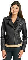MICHAEL Michael Kors Leather Asymmetrical Zip Moto Jacket