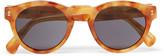 Illesteva Leonard Round-Frame Acetate Mirrored Sunglasses