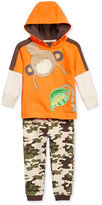 Nannette Baby Boys' 2-Pc. Layered-Look Monkey Hoodie & Pants Set