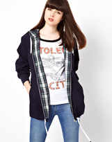 Pop Boutique Anorak with Plaid Lining