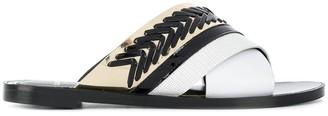 Lanvin Whipstitch Detail Sandals