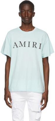 Amiri Blue Large Logo T-Shirt