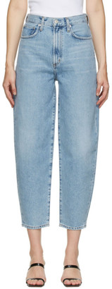 AGOLDE Blue Curved Balloon Jeans