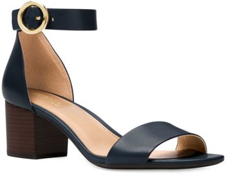 MICHAEL Michael Kors Lena Flex Mid Leather Ankle Strap Sandals