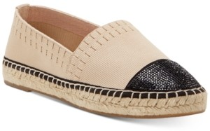 INC International Concepts Inc Women's Corvina Capped-Toe Woven Espadrille Flats, Created for Macy's Women's Shoes