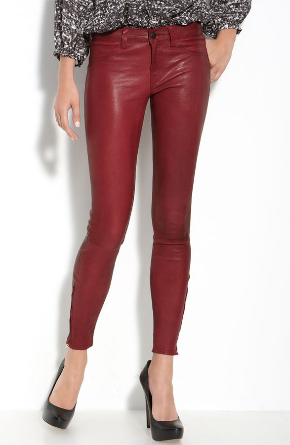 J Brand Lambskin Leather Pants