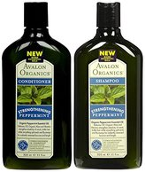 Avalon Peppermint Revitalizing Shampoo & Conditioner, 11 oz Each