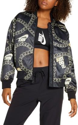 Nike Sportswear Icon Clash Chain Print Synthetic Fill Jacket