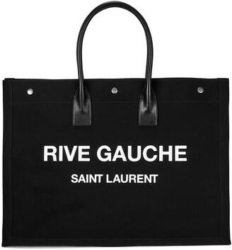 Saint Laurent Rive Gauche black canvas tote