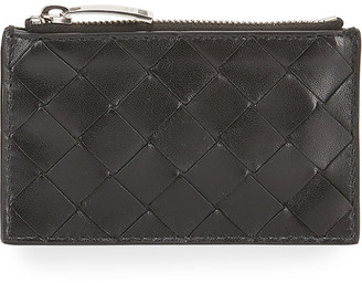 Bottega Veneta Napa Intrecciato Zip-Top Keyring Card Holder