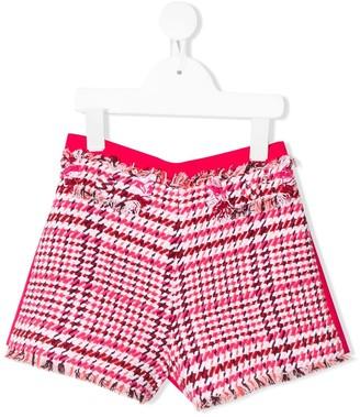 Elisabetta Franchi La Mia Bambina houndstooth check shorts
