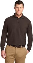 Port Authority Men's Tall Silk Touch Long Sleeve Polo 3XLT